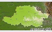 Physical Map of Arad, darken