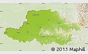 Physical Map of Arad, lighten