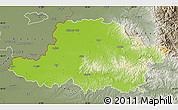 Physical Map of Arad, semi-desaturated