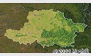Satellite Map of Arad, darken