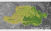 Satellite Map of Arad, desaturated