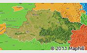 Satellite Map of Arad, political outside