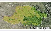 Satellite Map of Arad, semi-desaturated