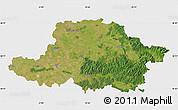 Satellite Map of Arad, single color outside