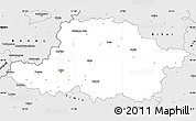 Silver Style Simple Map of Arad