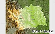 Physical Map of Bacau, darken