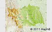 Physical Map of Bacau, lighten