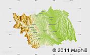 Physical Map of Bacau, single color outside