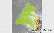 Physical Map of Bihor, desaturated