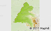 Physical Map of Bihor, lighten