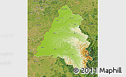 Physical Map of Bihor, satellite outside