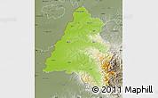 Physical Map of Bihor, semi-desaturated