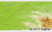 Physical Panoramic Map of Bihor