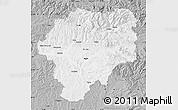 Gray Map of Bistrita-Nasaud