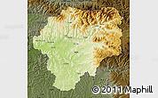 Physical Map of Bistrita-Nasaud, darken