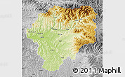 Physical Map of Bistrita-Nasaud, desaturated
