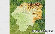 Physical Map of Bistrita-Nasaud, satellite outside