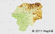 Physical Map of Bistrita-Nasaud, single color outside