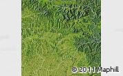 Satellite Map of Bistrita-Nasaud
