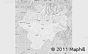Silver Style Map of Bistrita-Nasaud