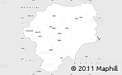 Silver Style Simple Map of Bistrita-Nasaud
