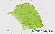 Physical Map of Botosani, cropped outside