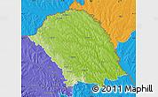 Physical Map of Botosani, political outside