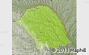Physical Map of Botosani, semi-desaturated