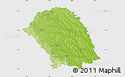 Physical Map of Botosani, single color outside