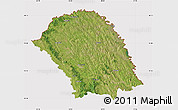 Satellite Map of Botosani, cropped outside