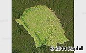 Satellite Map of Botosani, darken