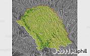 Satellite Map of Botosani, desaturated