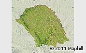 Satellite Map of Botosani, lighten