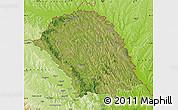 Satellite Map of Botosani, physical outside