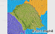 Satellite Map of Botosani, political outside