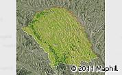 Satellite Map of Botosani, semi-desaturated