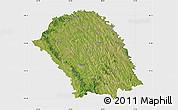 Satellite Map of Botosani, single color outside
