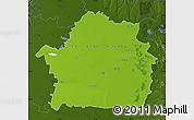 Physical Map of Braila, darken