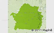 Physical Map of Braila, lighten