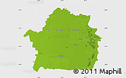 Physical Map of Braila, single color outside