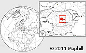 Blank Location Map of Brasov