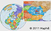 Political Location Map of Brasov