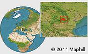 Satellite Location Map of Brasov