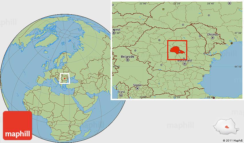 Savanna Style Location Map of Brasov