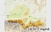 Physical Map of Brasov, lighten