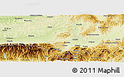 Physical Panoramic Map of Brasov