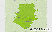 Physical Map of Bucuresti, lighten