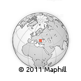 Outline Map of Bucuresti