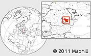 Blank Location Map of Buzau
