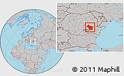 Gray Location Map of Buzau
